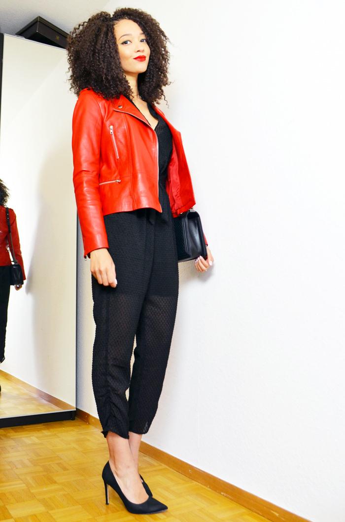Veste cuir rouge 123