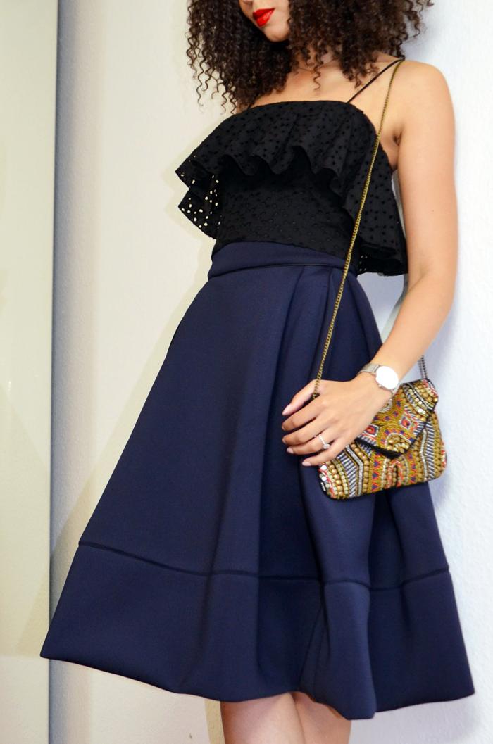 mercredie-blog-beaute-top-zara-pochette-perles-jupe-maje-neoprene-josephine