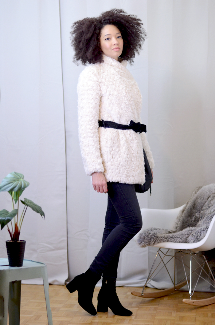 mercredie-blog-mode-soldes-promod-manteau-fausse-fourrure-sac-seau-apc-cheveux-naturels-afro-lacewig-big-beautiful-hair-outre-bottines-talons-pull-and-bear