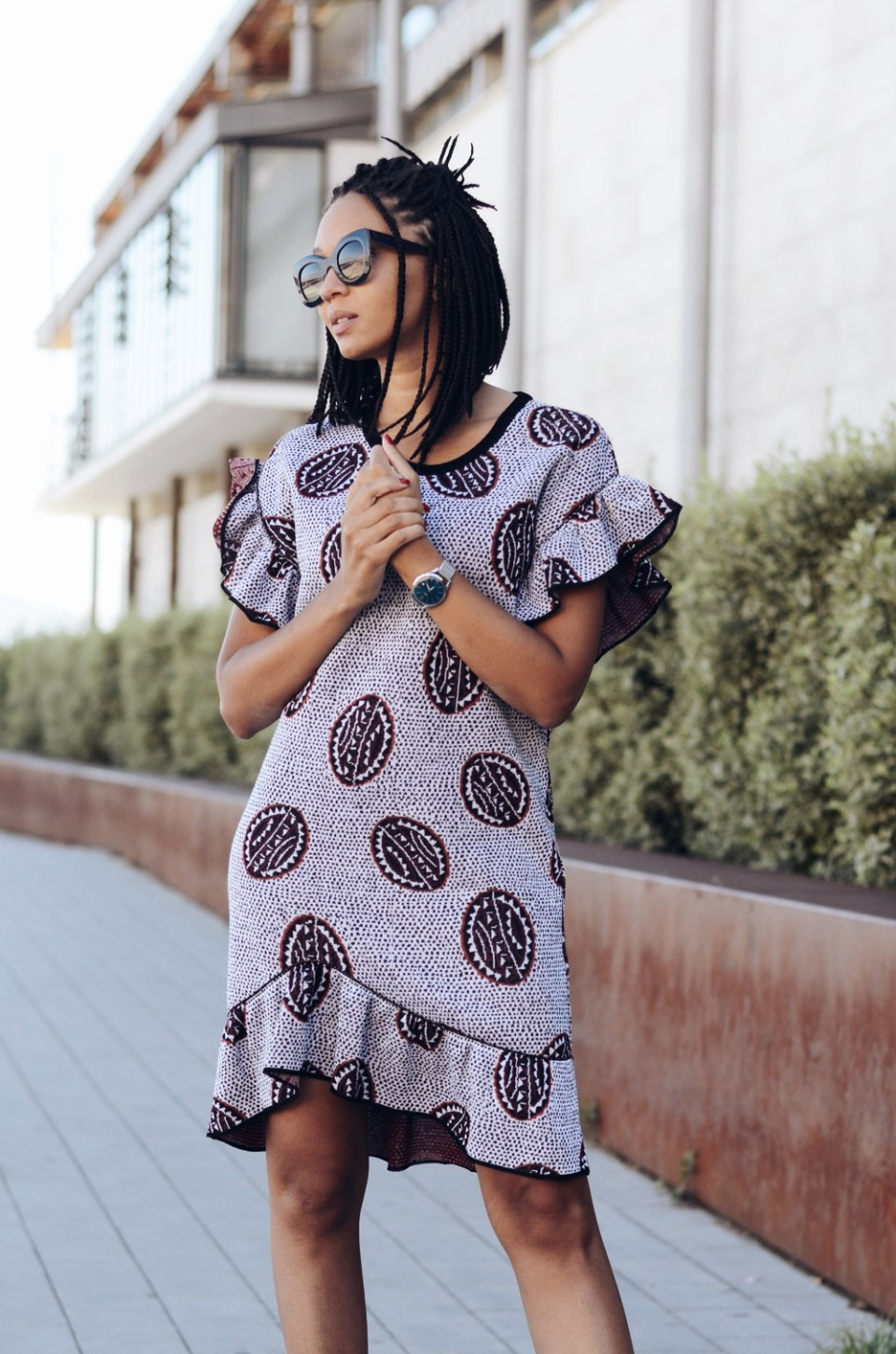 mercredie-blog-mode-fashion-blogger-geneva-suisse-blogueuse-bloggeuse-knightsbridge-montre-henry-london-robe-bimba-y-lola-irregular-tribe-celine-marta-41093S-lunettes-shades-sunglasses