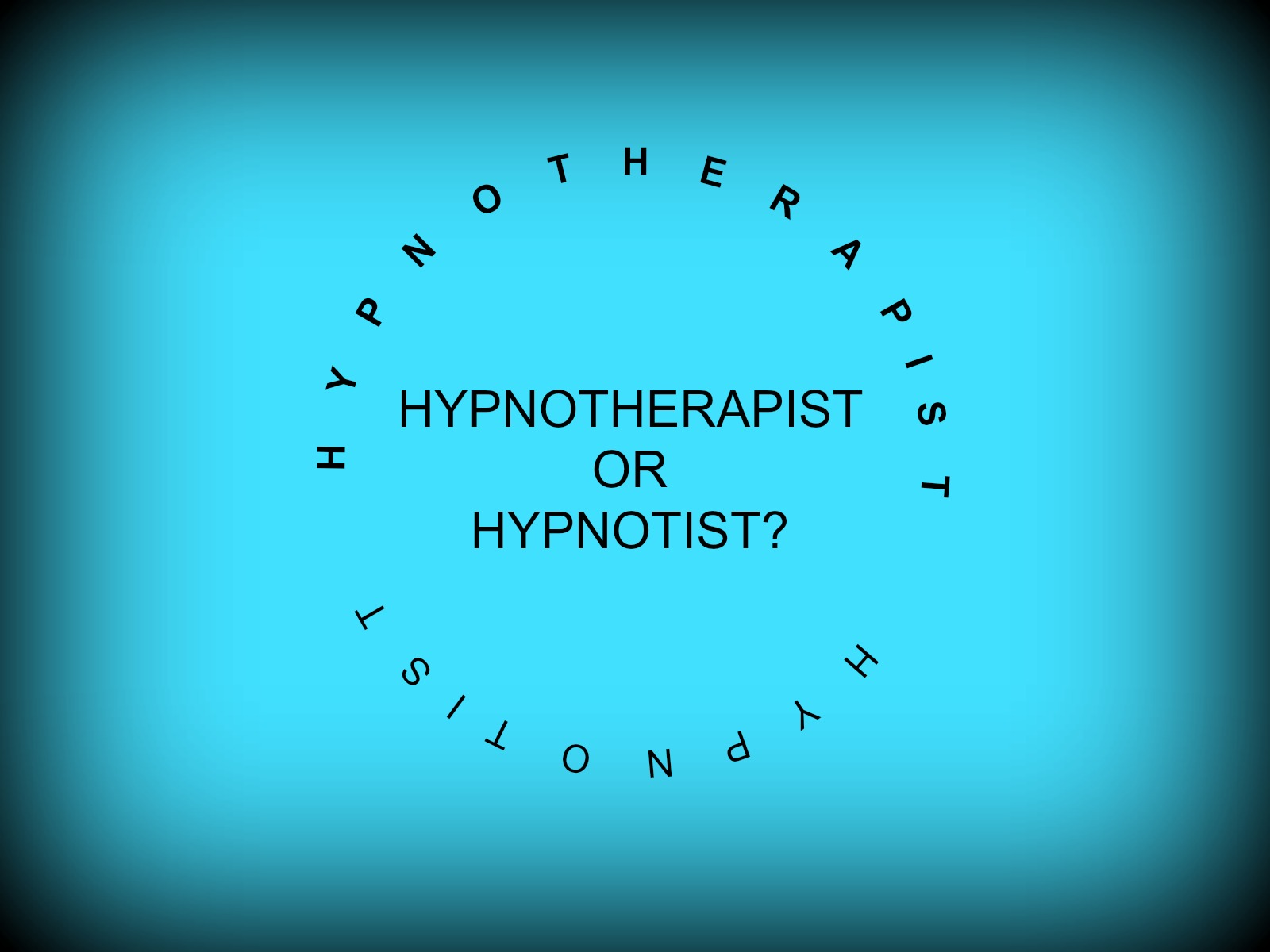 SNAP!  What's the difference between a Hypnotherapist and a Hypnotist?