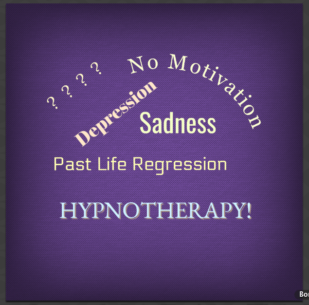 SNAP! Unhypnotizing Hypnotherapy. Sadness?  Depression? No motivation?  Hypnotherapy!
