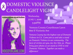 Domestic Violence Candelight Vigil