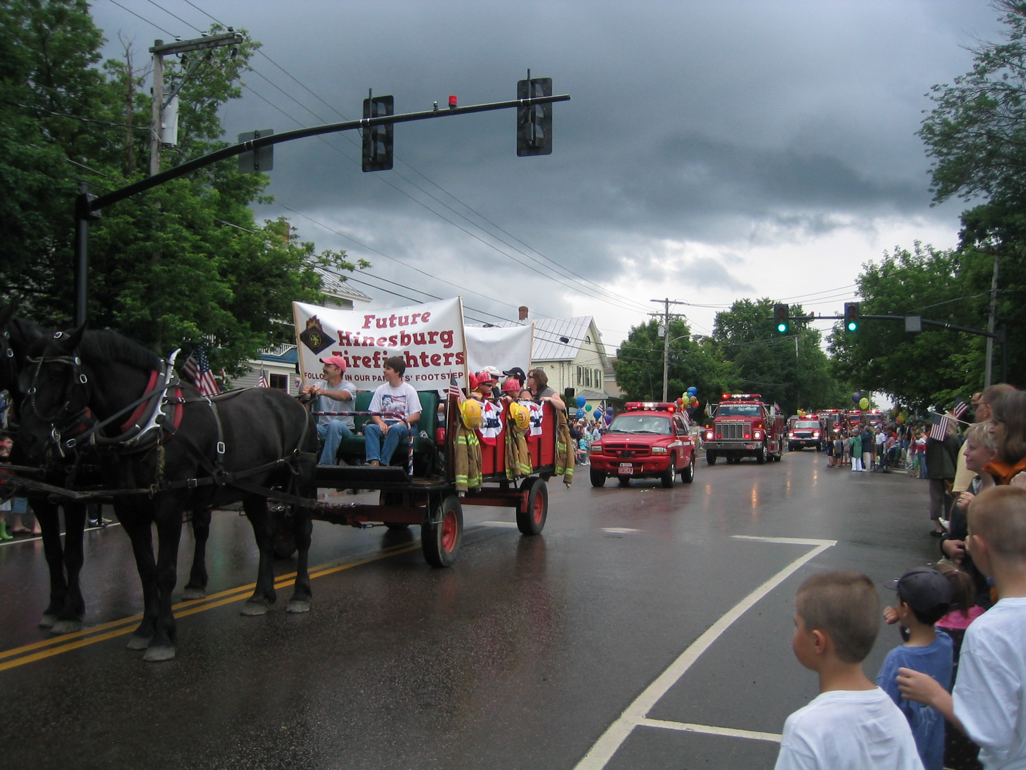 Hinesburg Firetrucks on the Way