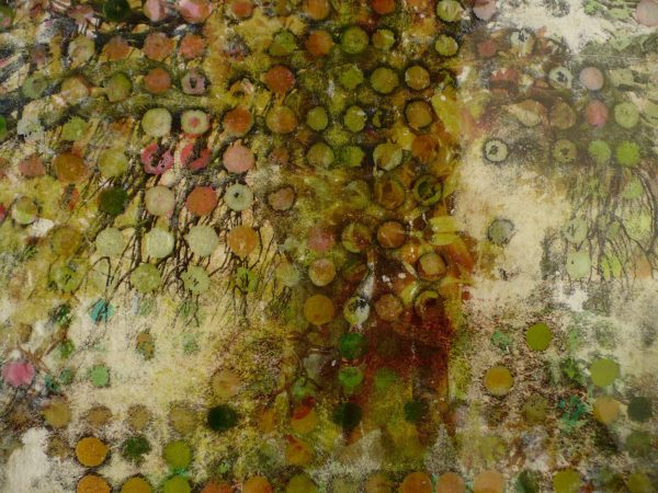 Jo Ann Biagini, 2015, Of Trees, mixed media on found image