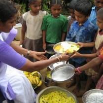 Nirmala Supplying Food -