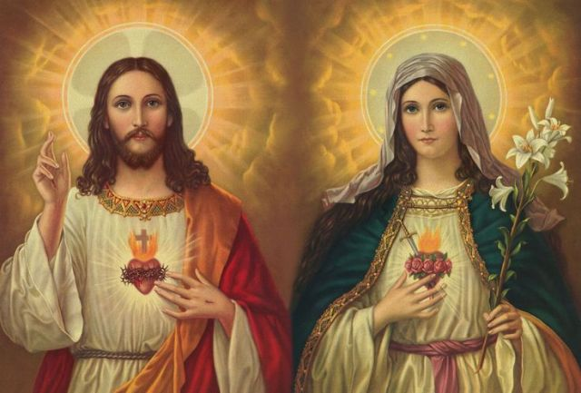 Image result for sacred of heart of jesus and mary