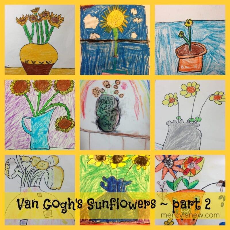 Van Gogh Sunflowers Art Project Part 2