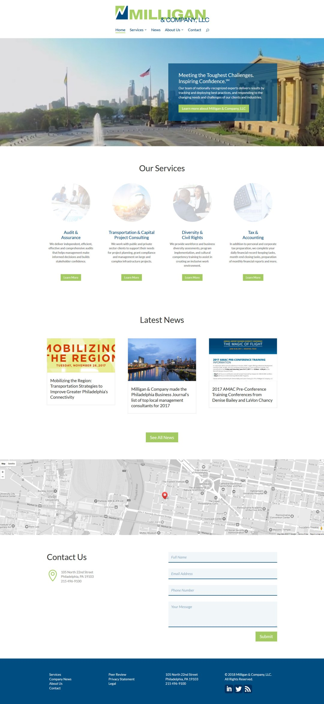 Accounting and Business Consulting Website Design