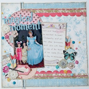 Magical Moments Layout- Nuts About Sketches