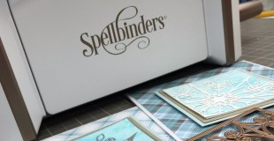 Cardmaking Process with Spellbinders Platinum 6 and Snowflake Snippets die set