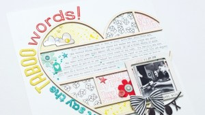 Scrapbooking Process: Taboo Words (The Doctors Are In)