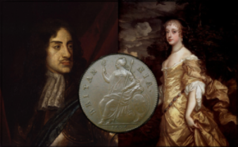King Charles II and Frances Stuart.