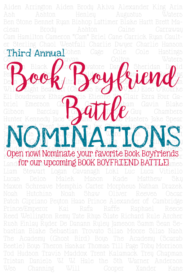 2016 Book Boyfriend Battle Nominations are now OPEN.