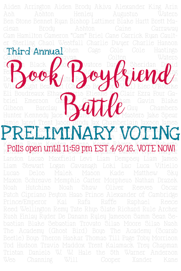 Book Boyfriend Battle 2016 - Premliminary Voting
