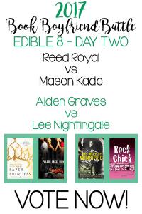 Book Boyfriend Battle – Edible 8 – Day Two – VOTE NOW!