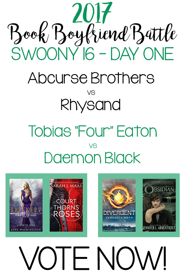 Book Boyfriend Battle - Swoony 16 - Day One - VOTE NOW!