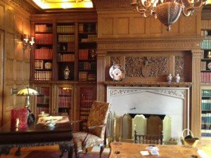 The library at Pittock Mansion
