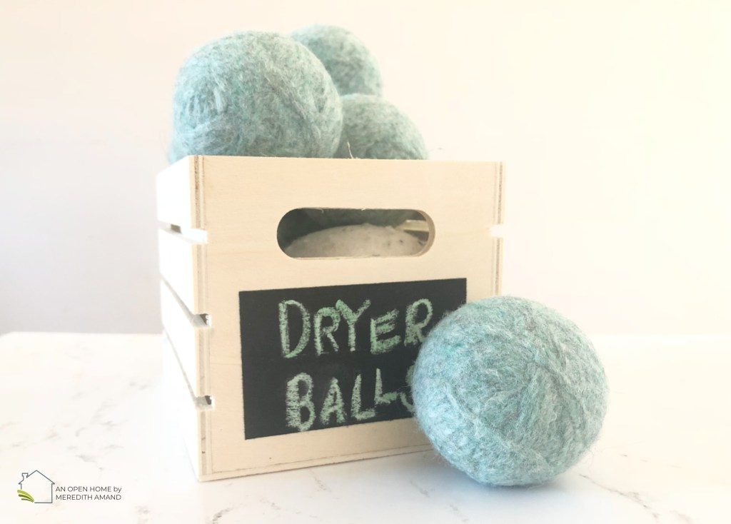DIY Wool Dryer Balls - Simple way to make your own dryer balls from yarn | MeredithAmand.com