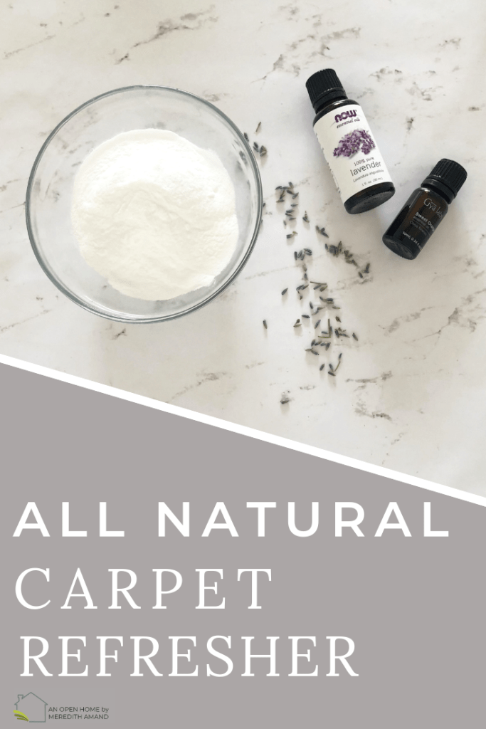 Natural Carpet Refresher - Make a quick DIY mix to refresh your carpets and rugs | MeredithAmand.com
