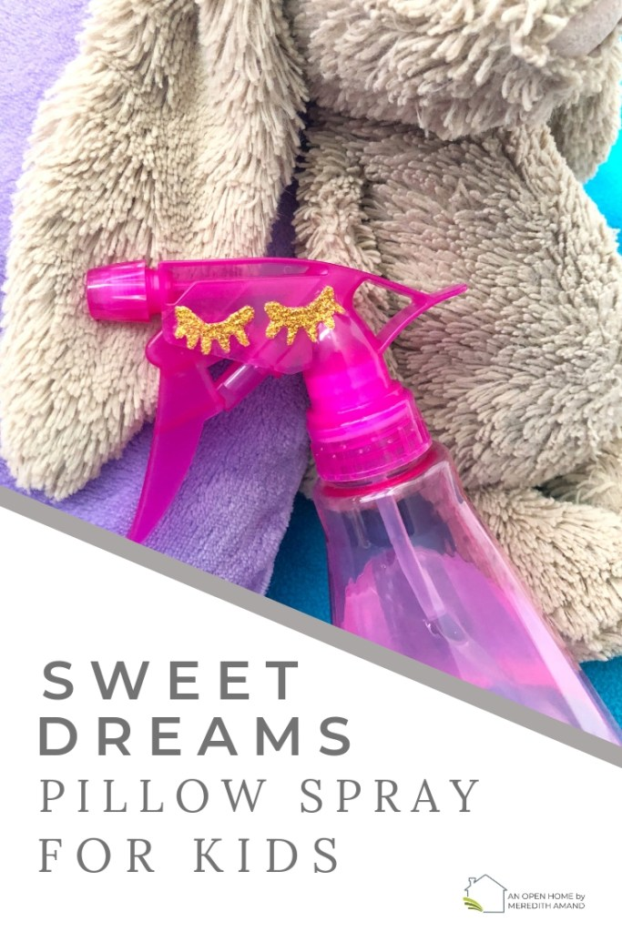DIY Pillow Spray for Kids - Sweet dreams and restful sleep for kids with this homemade pillow spray | MeredithAmand.com