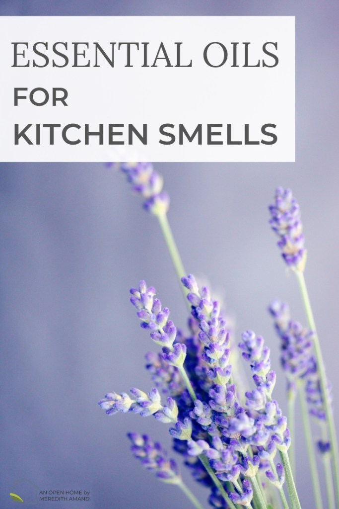 Essential Oils for Fighting Kitchen Smells - How to use essential oils to clear the air after cooking | MeredithAmand.com