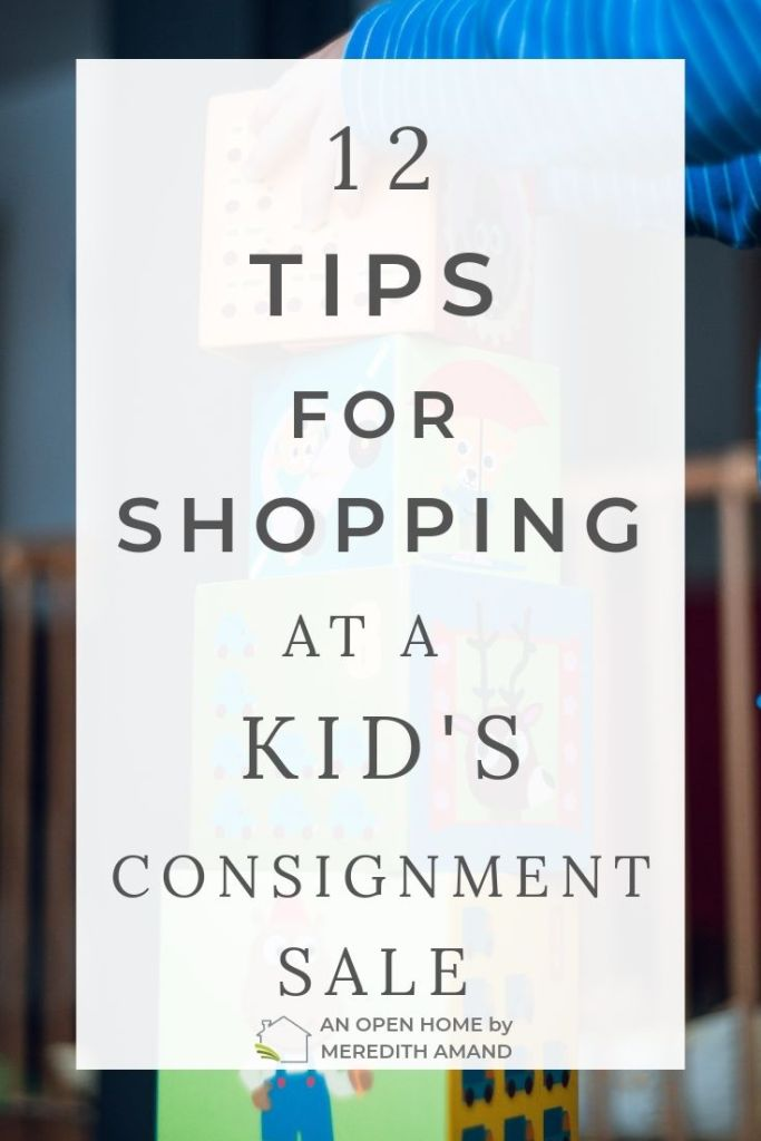 12 tips for shopping at a kids consignment sale - How to save the most money at a childrens clothing resale |MeredithAmand.com