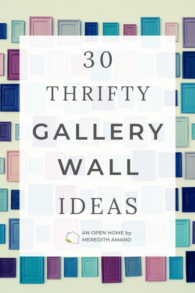 30 Thrifty Gallery Wall Ideas - Change and update your gallery wall displays without spending lots of money | MeredithAmand.com