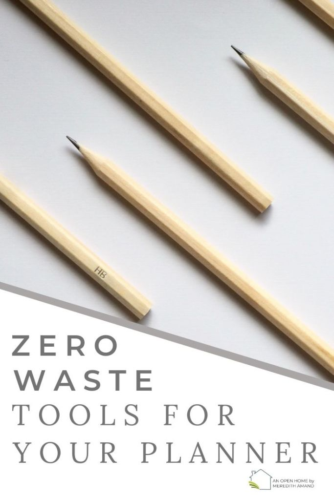 Zero Waste Planner Supplies - Sustainable tools to pretty up your planner and journal | MeredithAmand.com