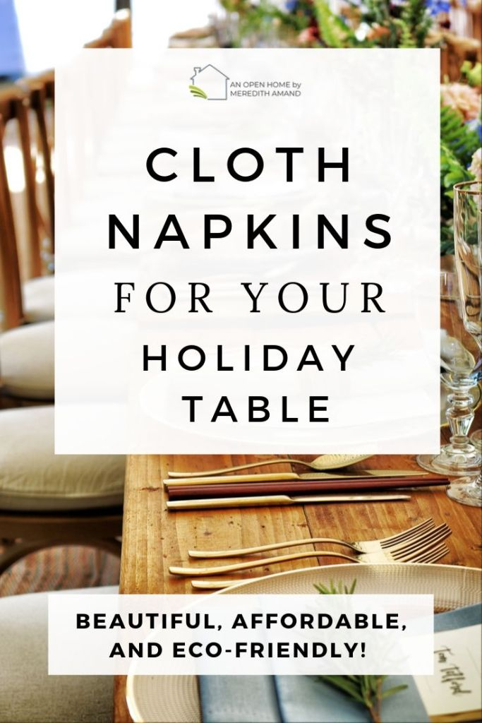 Cloth Napkins for the Holidays