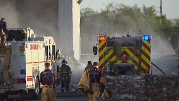 Materials catch fire at Chandler recycling plant - Arizona ...