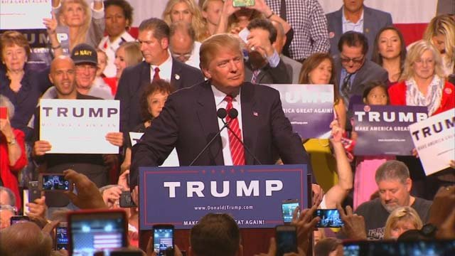 Image result for photos trump at campaign rallies