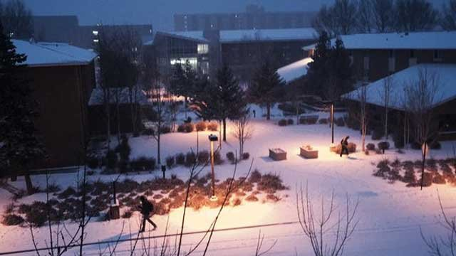 Snow at Northern Arizona University (Source: Facebook/Austin Turner)