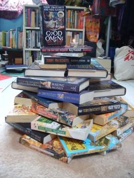 Terry Pratchett Memorial Book Cairn