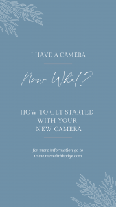 Pinterest pin get started with your new camera coral design