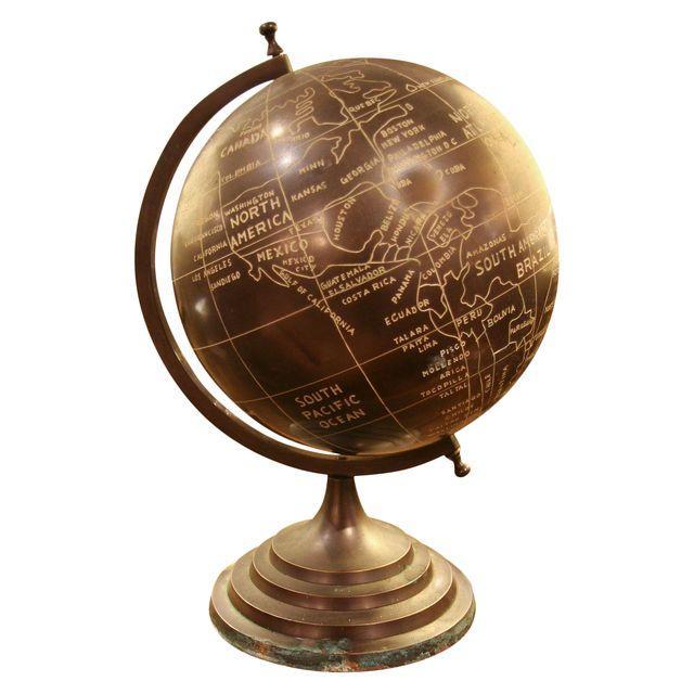 Early Brass Bronze Finish Globe