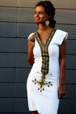 A mix of Ethiopian traditional and modern clothing