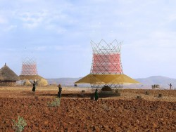 Ethiopian bamboo tower produces water from air