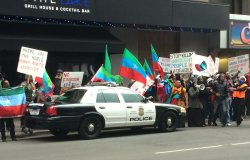 Ethiopian regime officials confronted by protesters in Minneapolis
