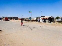 Ethiopia – Somalia border and an immigration office or shack