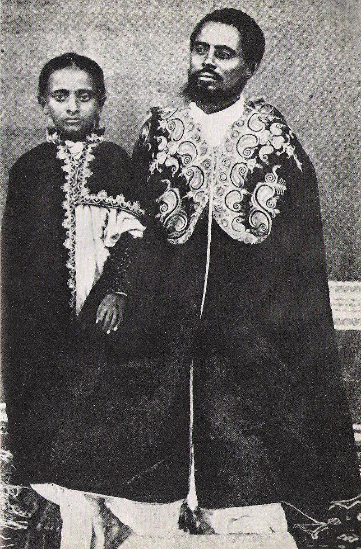 Ras Mekonnen Woldemikael and his son Lij Teferi Mekonnen the future emperor