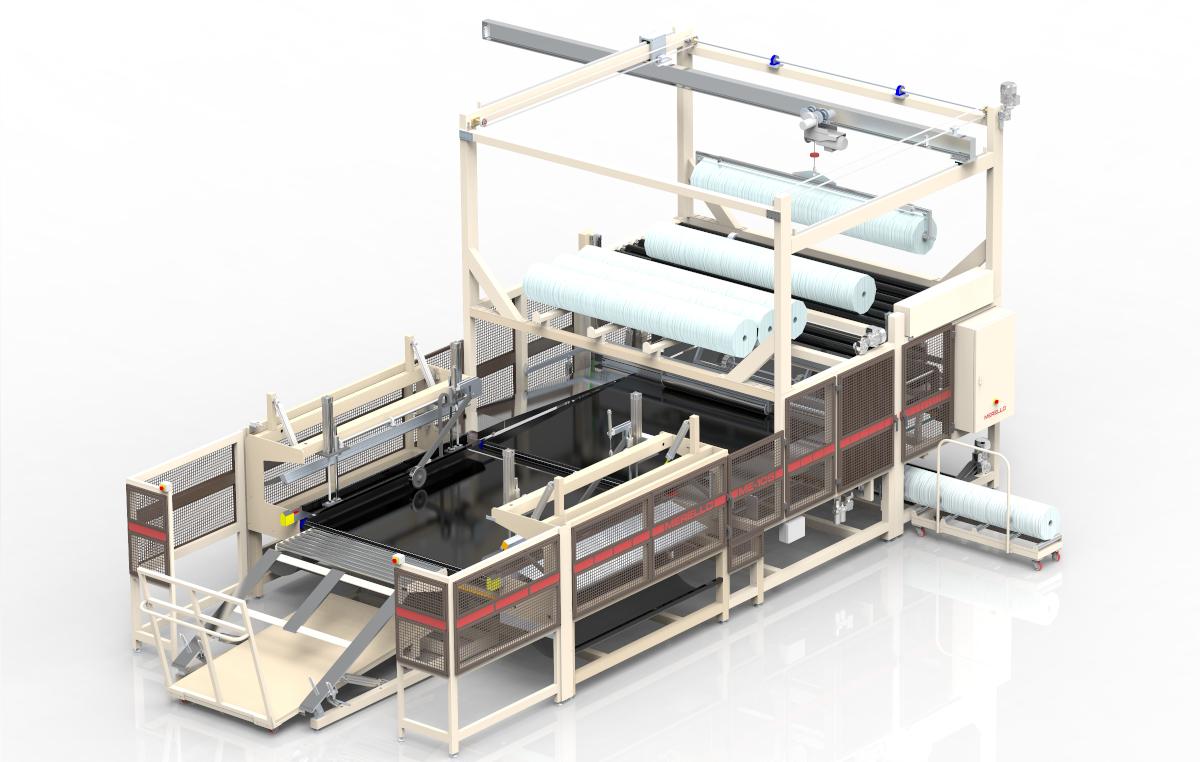 Empaquetadora de camas y de colchones ultra rápida ME-105