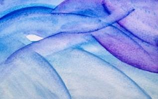 cloud doodling   watercolor   4x6