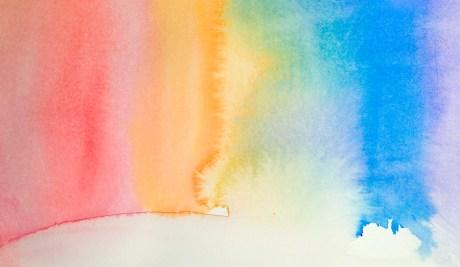 yogic rays   watercolor   8x6