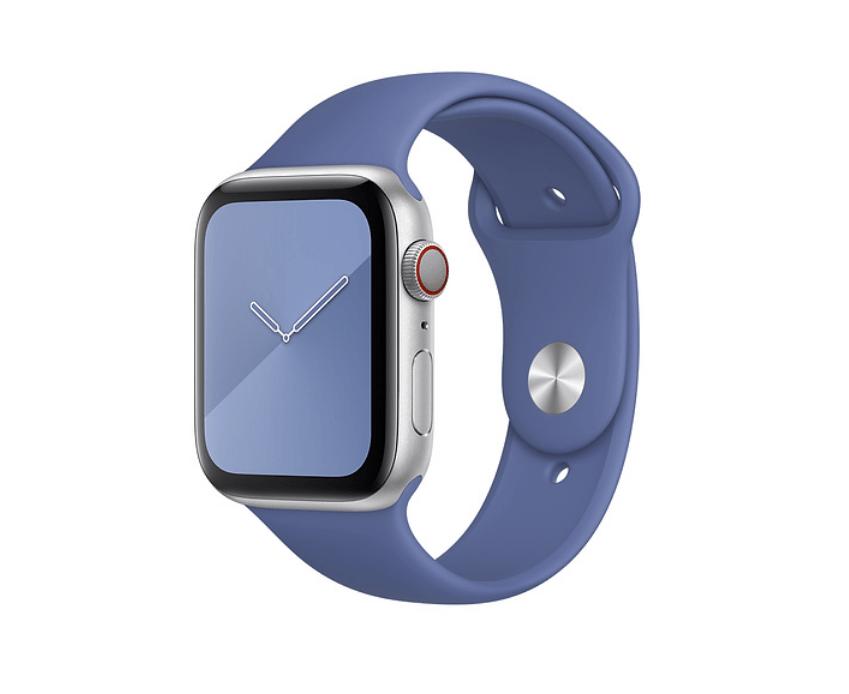 Apple Watch Series 5 med ny linnedblå sportsrem (Foto: Apple)