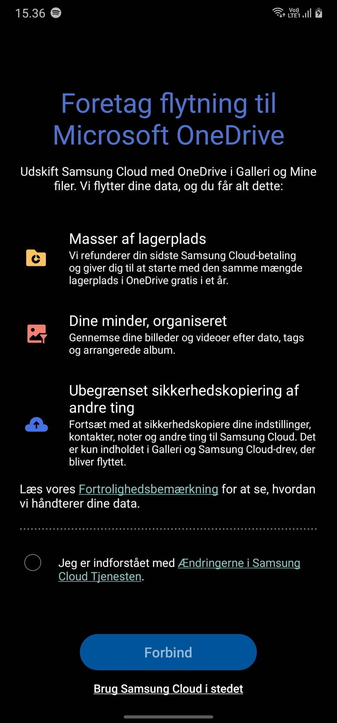 Skærmbillede fra Galaxy Note20 Ultra