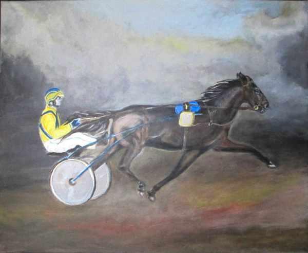 Driver et cheval attelé