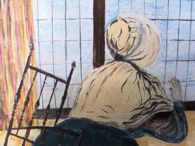 Femme à la fenêtre détail