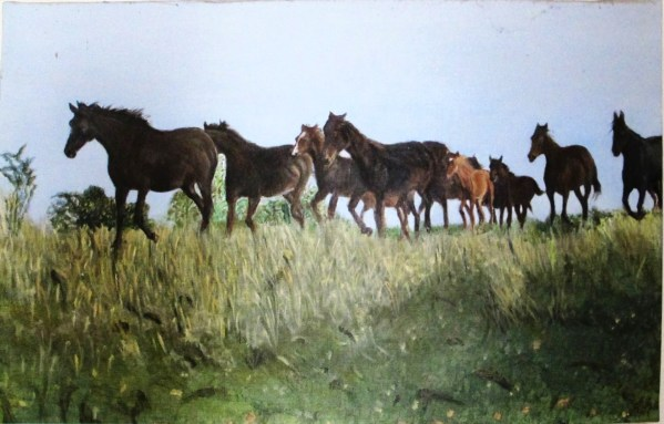 Harde de dix chevaux