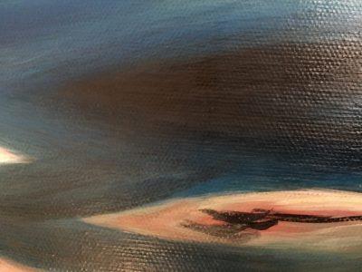 Peinture mer d'huile détail